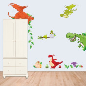 Winhappyhome Wall Stickers Dragon Animal Zoo Children Bedroom Kindergarten Background Removable Decals