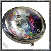 FLORA FAIRY COMPACT MIRROR BY JASMINE BECKET GRIFFITH NEMESIS NOW