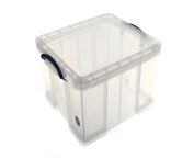 Really Useful Storage Box Plastic Lightweight Robust Stackable 42 Litre W440xD520xH310mm Clear Ref 42C