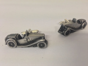 MG Midget TC 3D cufflinks classic car pewter effect cufflinks ref136