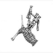 Bagpipes Scottish Pin Badge Brooch Gift, Supplied in Organza Bag