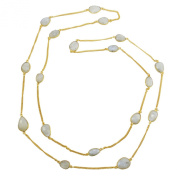 Banithani Long Strend Goldplated Chunky Stone Necklace Fashion Statement Jewellery Gift For Her