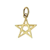 9ct Gold 13x13mm Pentangle Pendant or Charm