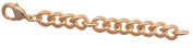 Chain extension Safety Chain Rose Gold 8 & # X441 M Long Silver VK4