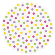 Bright Polka Dot Paper Doilies, Pack of 20