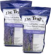 Dr. Teal's Epsom Salt Soaking Solution, Lavender,2 bags