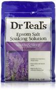 Dr. Teal's Epsom Salt Soaking Solution, Lavender, 4 bags