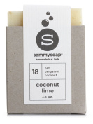 sammysoap All Natural Soap Bar, Coconut Lime