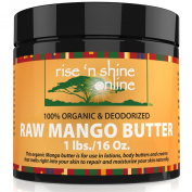 470ml Unrefined Organic Bulk Raw Mango Butter - FREE RECIPE EBOOK - Perfect for Your DIY Home Recipes Like Soap Making, Lotion, Shampoo, Lip Balm and Hand Cream - Helps with Stretch Marks and Scars