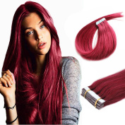 BUG 46cm PU Tape In Remy Human Hair Extensions Straight Fashion style 20pcs