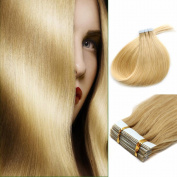 46cm Tape In Remy Human Hair Extensions Straight Fashion style Gloden 40g
