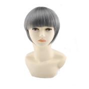 Heat-resistant Fibre Short Straight Grey Hair Wig