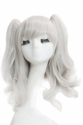 XCOSER Kashima Wig Kantai Collection Silvery White Costume Party Wig with Clip In Ponytails