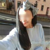Fashion Sweet Korean Style Big Bowknot Hair Band Bow Headband Hair Accessory Grey