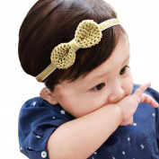 Fullkang New Girl Head Accessories Hairband Baby Elastic Bowknot Headwear