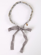 Vintage style lovely lace grey headbands with crystal