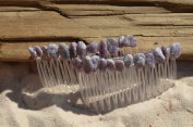 Lepidolite Stone Hair Combs