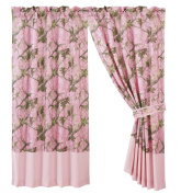 HiEnd Accents Oak Camo Curtain, Pink
