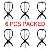 Black Wig Stand, Portable Wig Stand, Wig Dryer, 6p