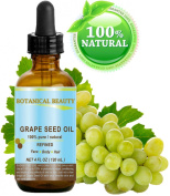 GRAPE SEED Oil. 100% Pure / Natural / Undiluted Cold Pressed Carrier Oil for Skin, Hair, Massage and Nail Care. 4 Fl. oz-120 ml.