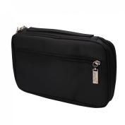 Andux Land 25 black PU portable professional makeup brush bag HZB-01
