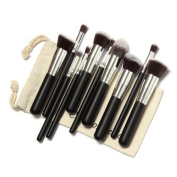 Yoyorule 10 Pcs Makeup Brushes Set Makeup Brushes Kit Draw String Makeup Bag