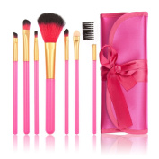 Anself Superb All-round Makeup Brush Set Facial Cosmetic Tools With Fitted Folding Case 7pcs