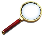 Yonger 80mm Diameter 10X Optical Lens Magnifying Glass with Rosewood Handle