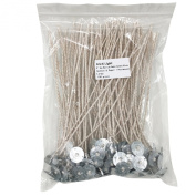 EricX Light 100 Piece Soy Wax Natural Candle Wick,20cm Low Smoke Cotton & Paper Interwoven core,Large,For Candle Making,Candle DIY