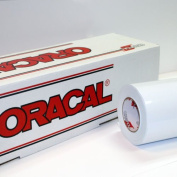 60cm x 3m Roll of Oracal 651 Matte White Vinyl for Craft Cutters and Vinyl Sign Cutters