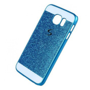 Galaxy S7 Edge Case-Superstart Blue Luxury Beauty Bling Diamond Glitter Hard Shiny Sparkling with Crystal Rhinestone Cover Case for Samsung Galaxy S7 Edge