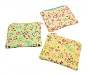 Ladies Floral Pattern Coin Purse With Zip Fastening -YOU WILL RECEIVE ONE PURSE AT RANDOM FROM THE colours SHOWN.