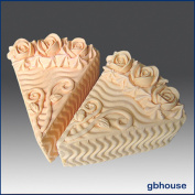 Cake Slice - Rose Icing - Detail of High Relief Sculpture - Silicone Soap/polymer/clay/cold Porcelain Mould