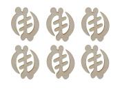 Gye Nyame Symbol Unfinished Wood African Adinkra Cut Outs 6pcs AFR-GYE06