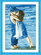 Home Decoration DIY Printed Needlework Sets Counted Cross Stitch Kits Embroidery Kits, Childhood of the Sea