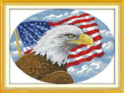 Joy Sunday® Cross Stitch Kit 11CT Stamped Embroidery Kits Precise Printed Needlework- Bald eagle (2) 56×42CM