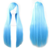Prettybuy 100cm 100 High Quality Fashion Women's Cosplay Hair Wig Long Straight Hair Heat Resistant Costume Party Full Wigs