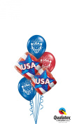 Qualatex USA Patriotic 6pc Balloon Pack Red White Blue