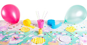 Easter Bunny & Eggs 41pc Spring Party Decoration Kit w Cutouts Balloons & More