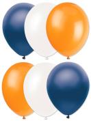 Denver Broncos Football Super Bowl 6pc 28cm Latex Balloons Navy Orange White