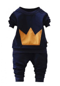 Wxian Spring And Autumn Boy Baby'S Personality Two-Piece Outfit