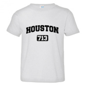 Toddler Houston 713 Area Code Distressed Soft-Style High Quality Tee