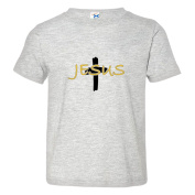 Toddler Jesus with Cross Beautiful Ornate Soft-Style High Quality Tee