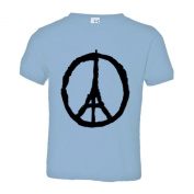Toddler Support Paris France Peace Sign - Jean Jullien Soft-Style High Quality Tee