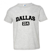 Toddler Dallas 214 Area Code Distressed Soft-Style High Quality Tee