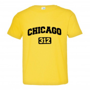 Toddler Chicago 312 Area Code Distressed Soft-Style High Quality Tee
