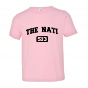 Toddler Cincinnati 513 Cincy The Nati Area Code Distressed Quality SoftStyle Tee