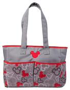 Disney Mickey Mouse Nappy Bag, Grey/Red, Large