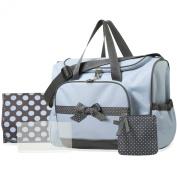 Baby Essentials 4 in 1 duffel style-blue/grey