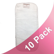 Nurtured Family Microterry 3-Layer Cloth Nappy Inserts (10 Pack) - Size Small